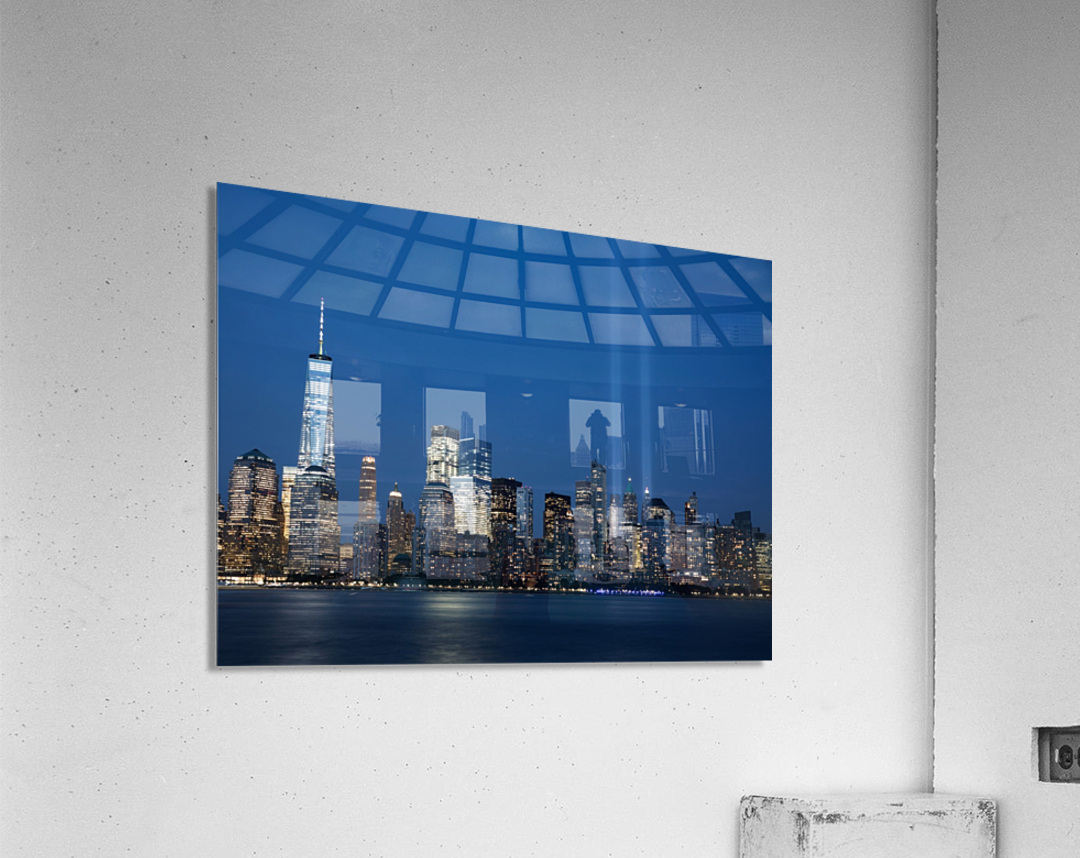 911 Memorial Lights NYC skyline  Acrylic Print