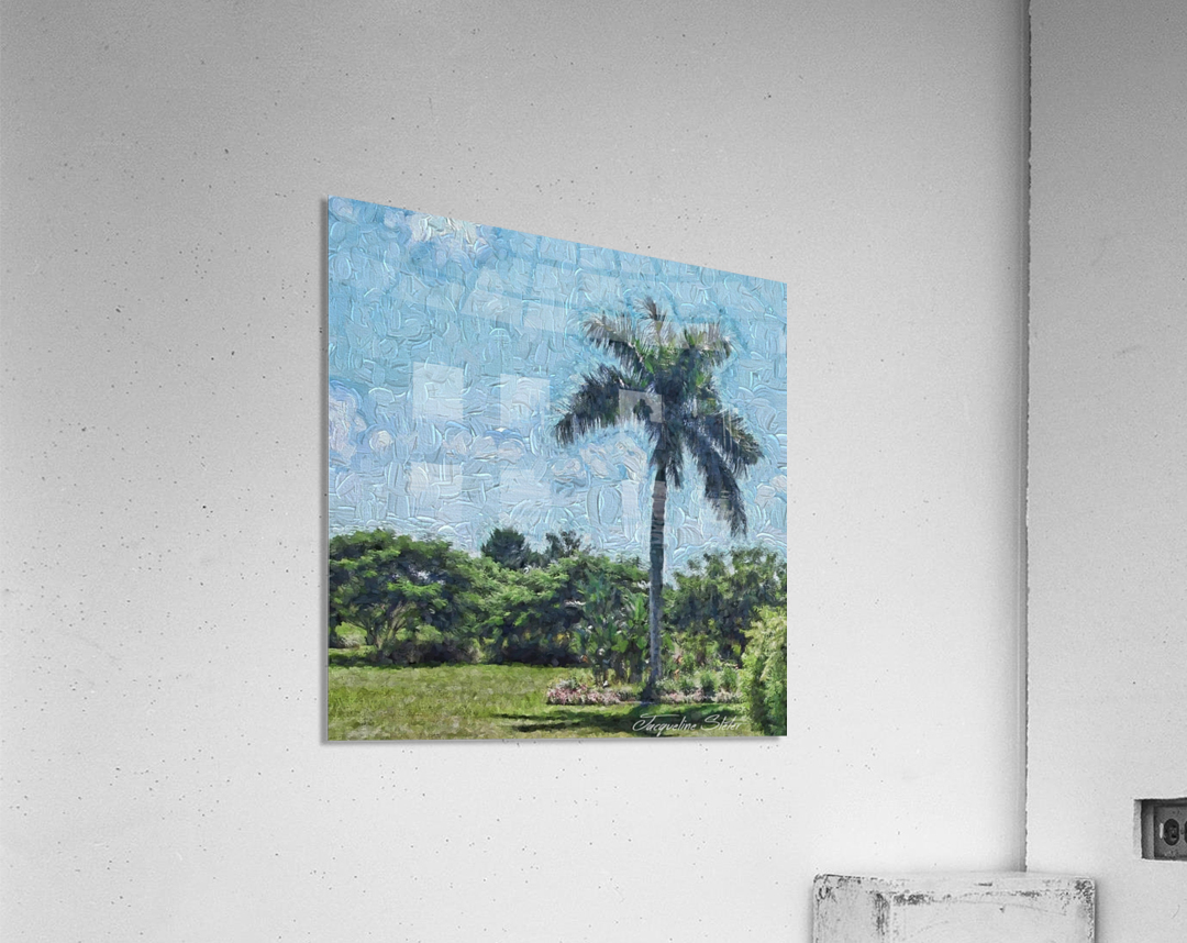 A Monet style Palm  Acrylic Print