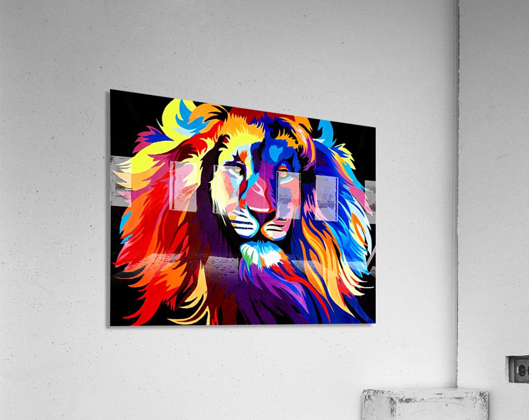 Lion Rainbow  Acrylic Print