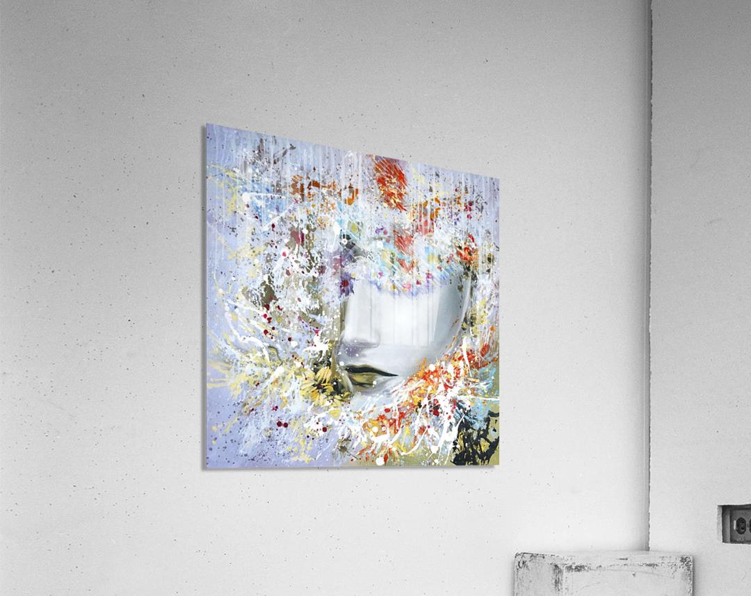 LadyinYellow  Acrylic Print