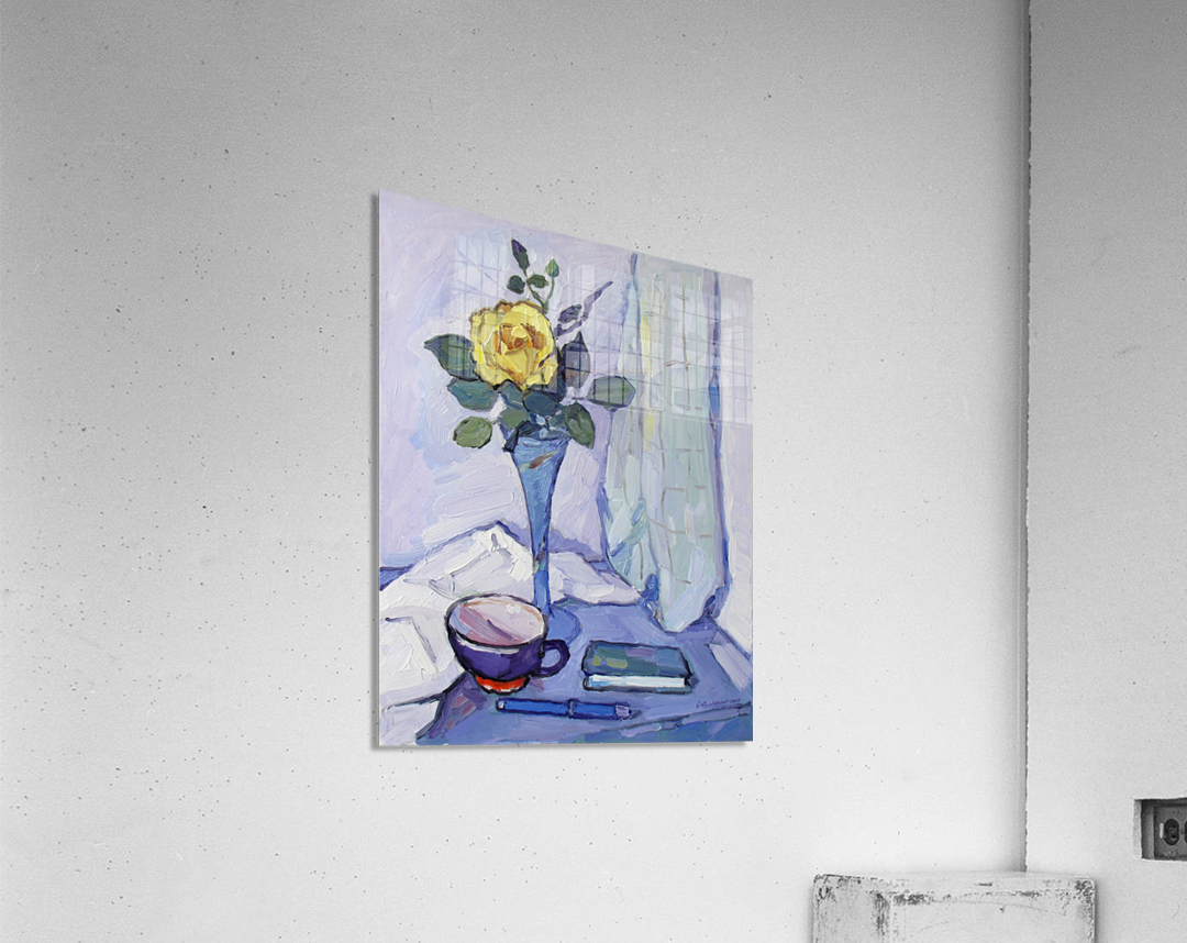 Still Life with Yellow Rose  Acrylic Print
