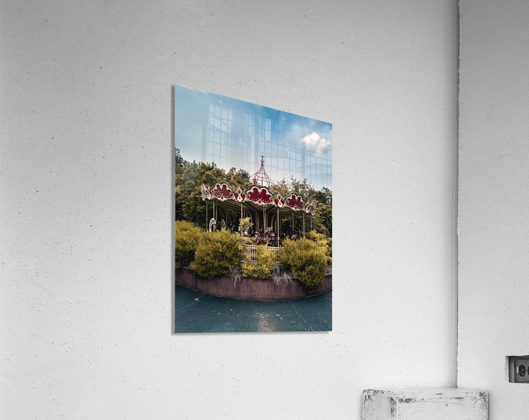 Abandoned Theme Park Merry Go Round  Acrylic Print
