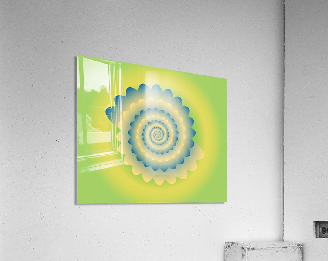 3D Flower Artwork  Acrylic Print