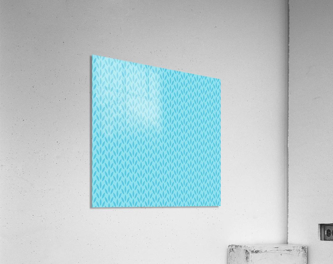 Blue Leaf pattern Art  Acrylic Print