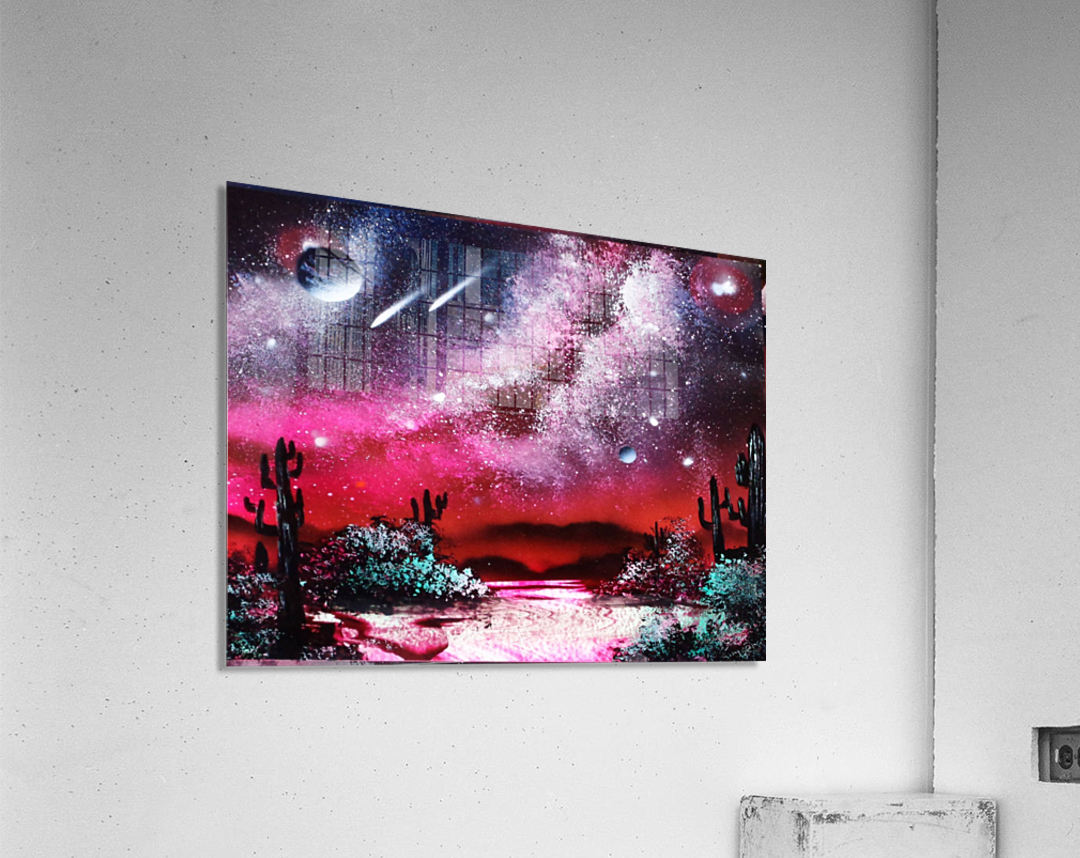 Cactus galaxy  Acrylic Print