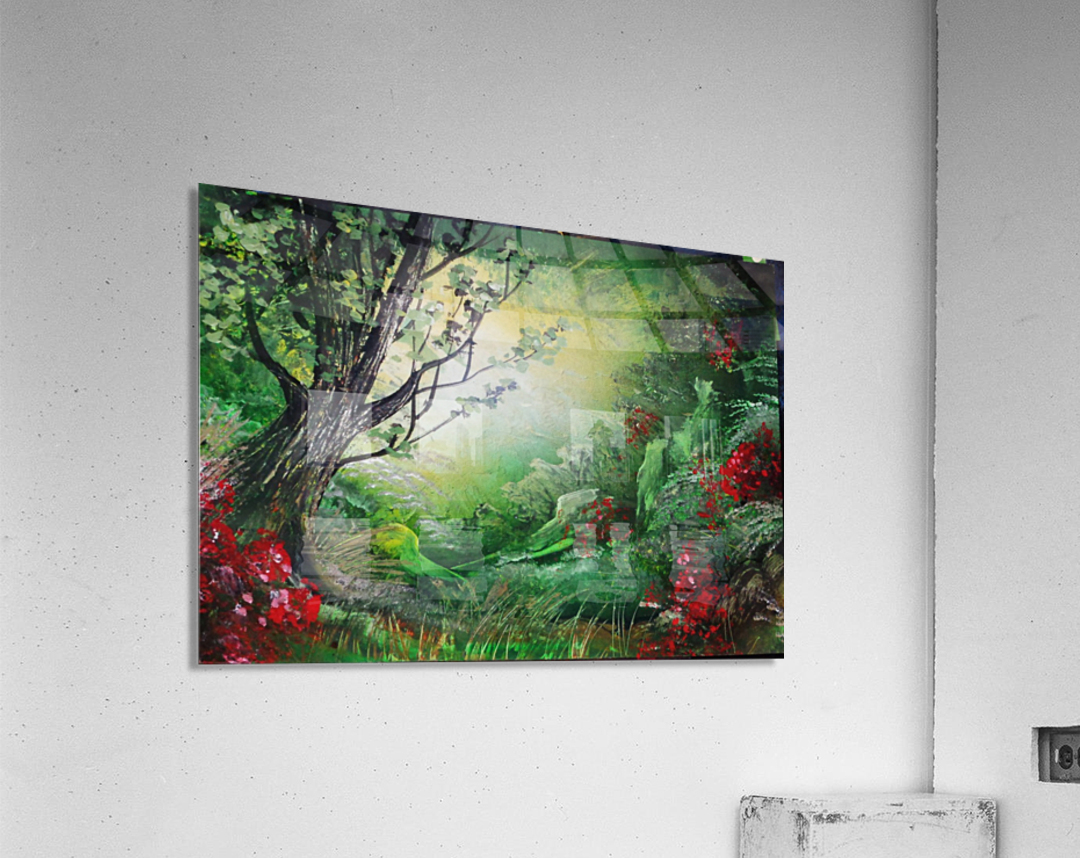 Green forest  Acrylic Print
