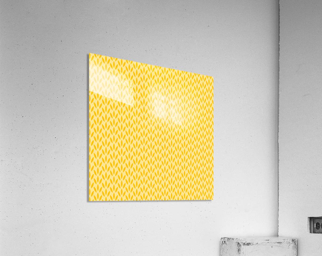 Yellow Flora  Acrylic Print