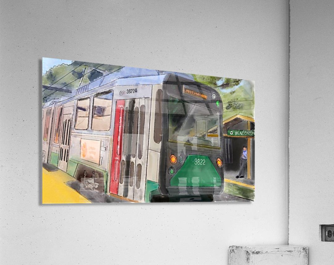 MBTA Green Line Trolly  Acrylic Print