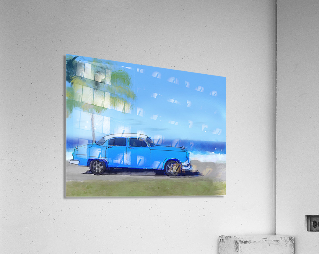 Cuba Blue Car  Acrylic Print