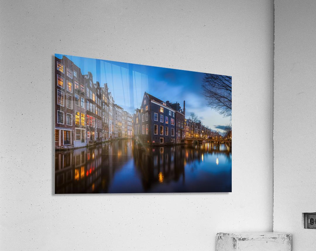 Blue Amsterdam  Impression acrylique