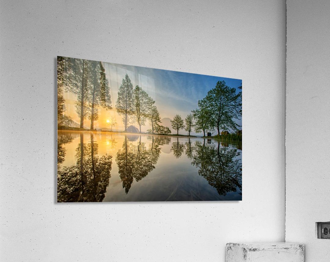 Mount Fuji reflected in Lake , Japan  Acrylic Print