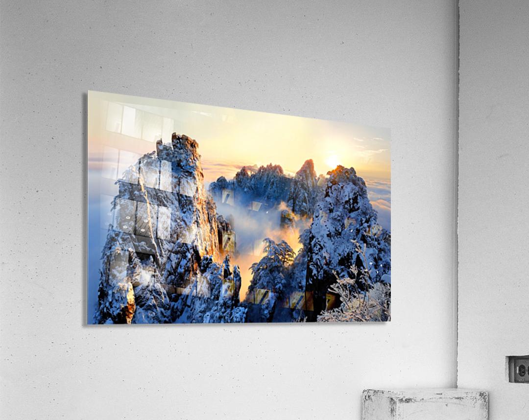 Sunrise at Mt. Huang Shan  Acrylic Print