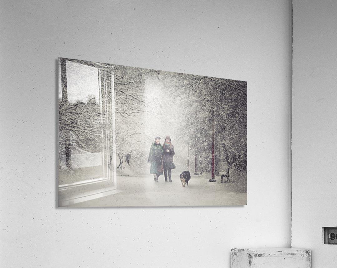 Snow storm charm  Acrylic Print