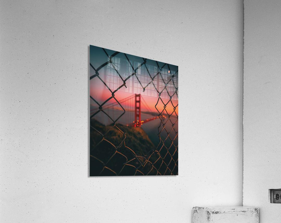 Golden Gate Caged  Impression acrylique