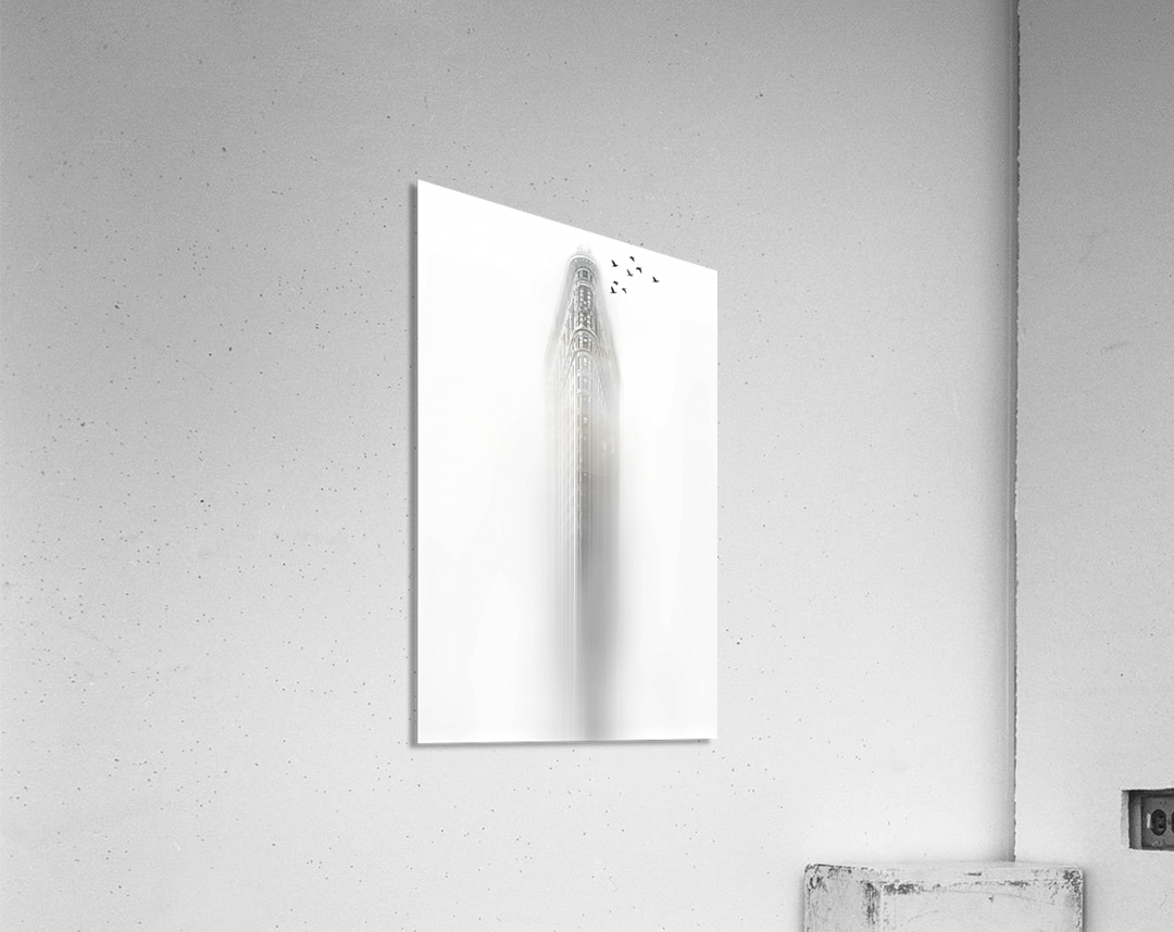 white  Impression acrylique