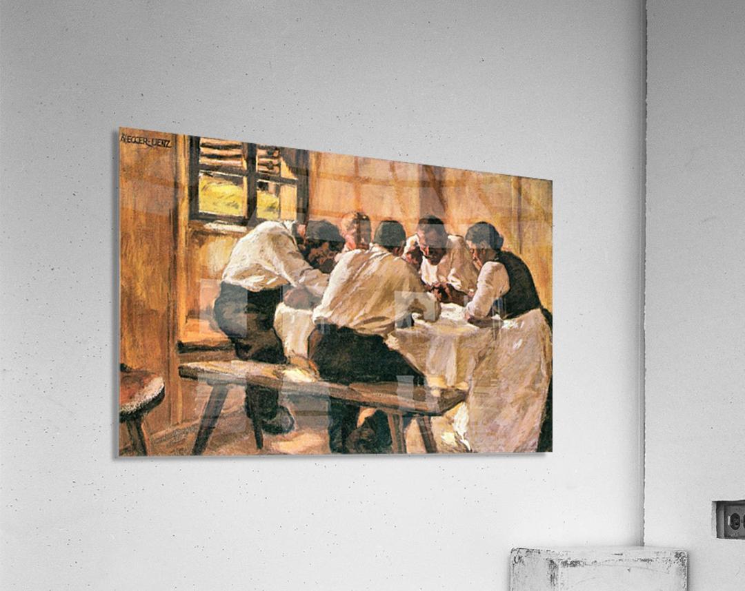 Lunch by Albin Egger-Lienz  Acrylic Print