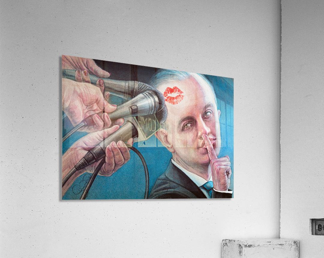 Secret Kiss By Krzysztof Grzondziel  Acrylic Print