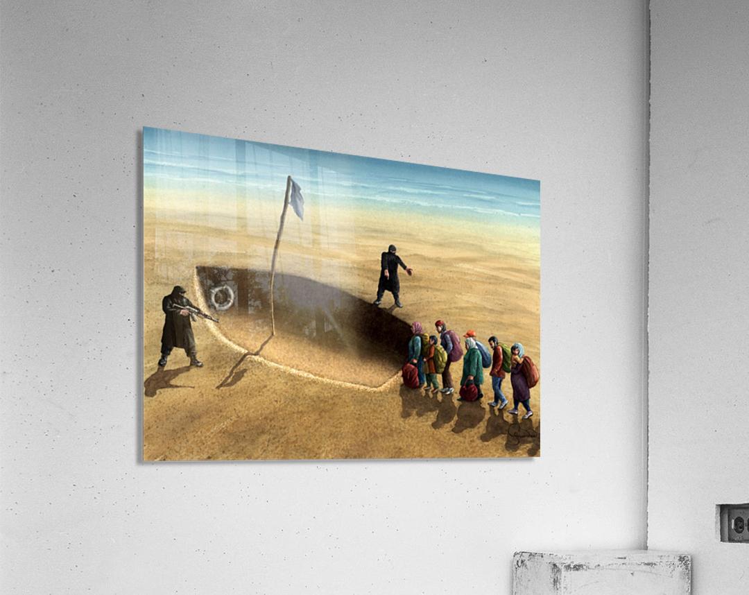 Last emigration by Krzysztof Grzondziel  Acrylic Print