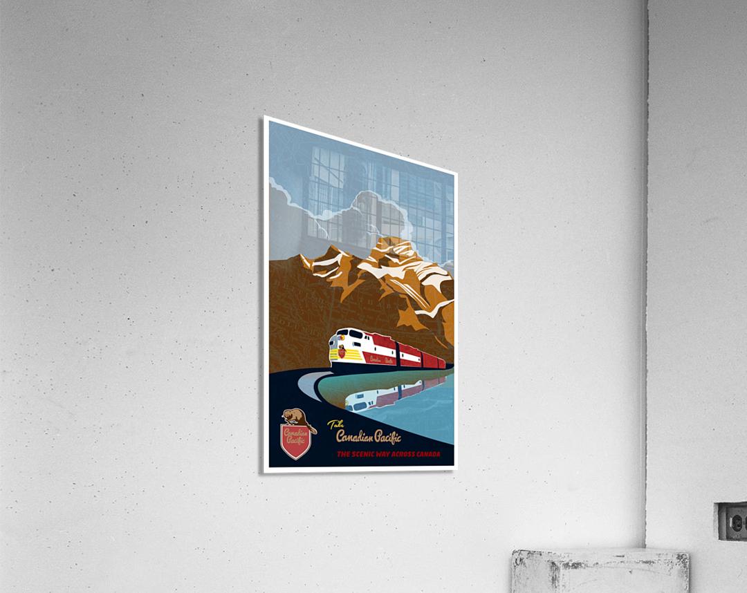 Retro CP rail travel poster  Acrylic Print