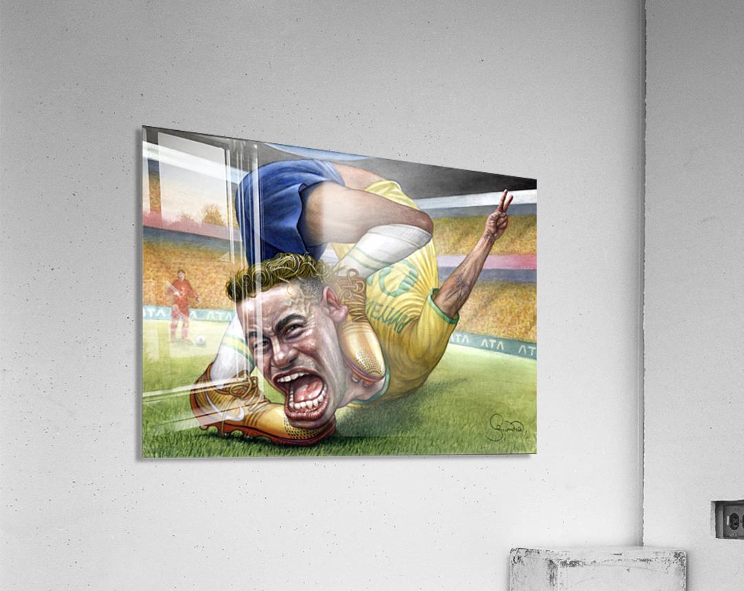 Neymar by Krzysztof Grzondziel  Acrylic Print