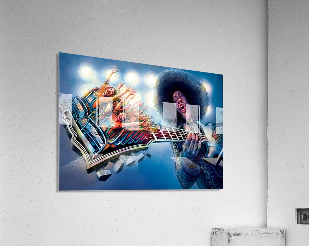 Jimi Hendrix by Krzysztof Grzondziel  Acrylic Print