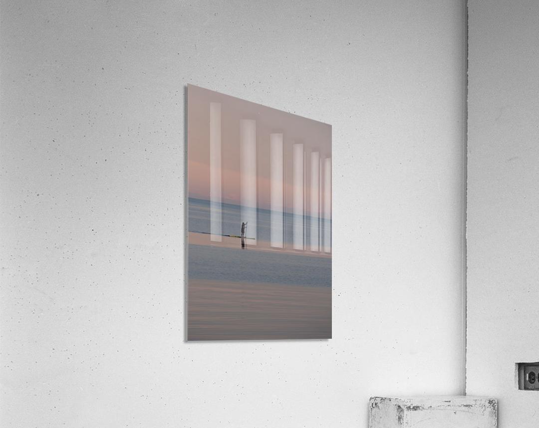 Evening paddleboarder  Impression acrylique