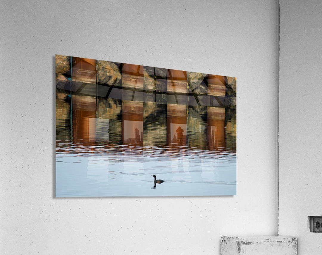 The breakwater  Impression acrylique