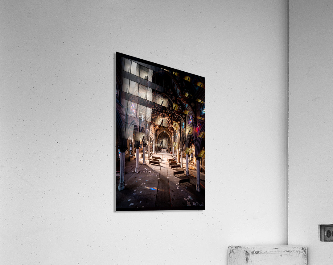 Abandoned Gothic Cathedral  Acrylic Print