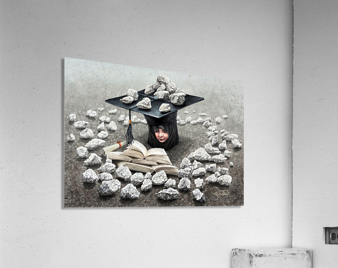 Girls education by Krzysztof Grzondziel  Acrylic Print