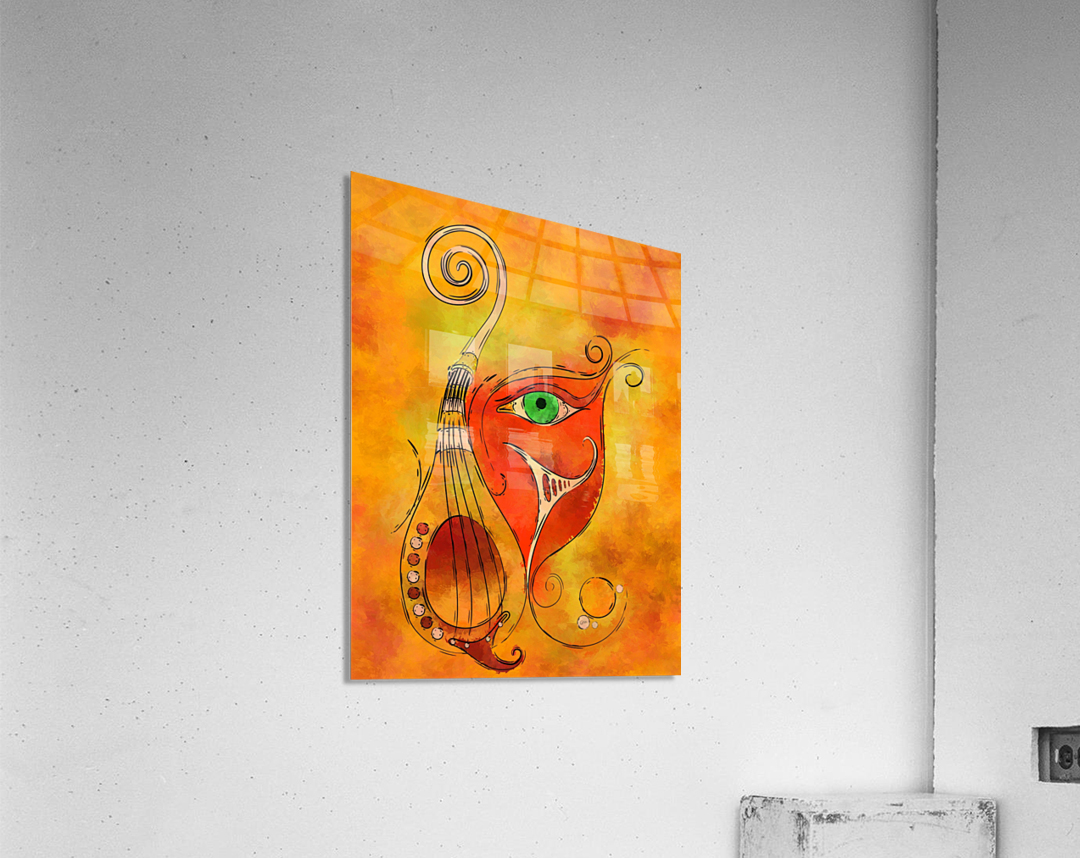 Masquerevue - beauty behind the instrumental mask  Acrylic Print