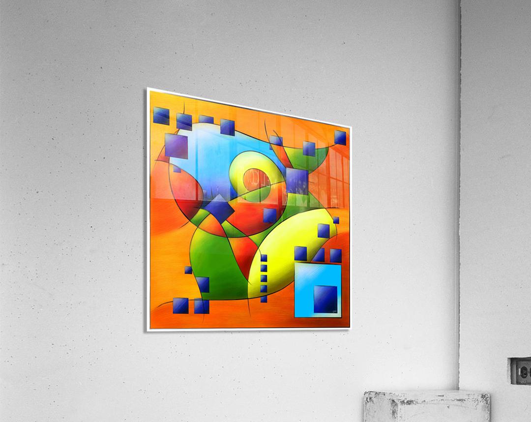 Fantisimella - colourful birdy abstract  Acrylic Print