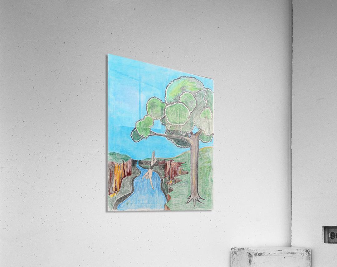 Last dip of the Summer. Gene H.  Acrylic Print