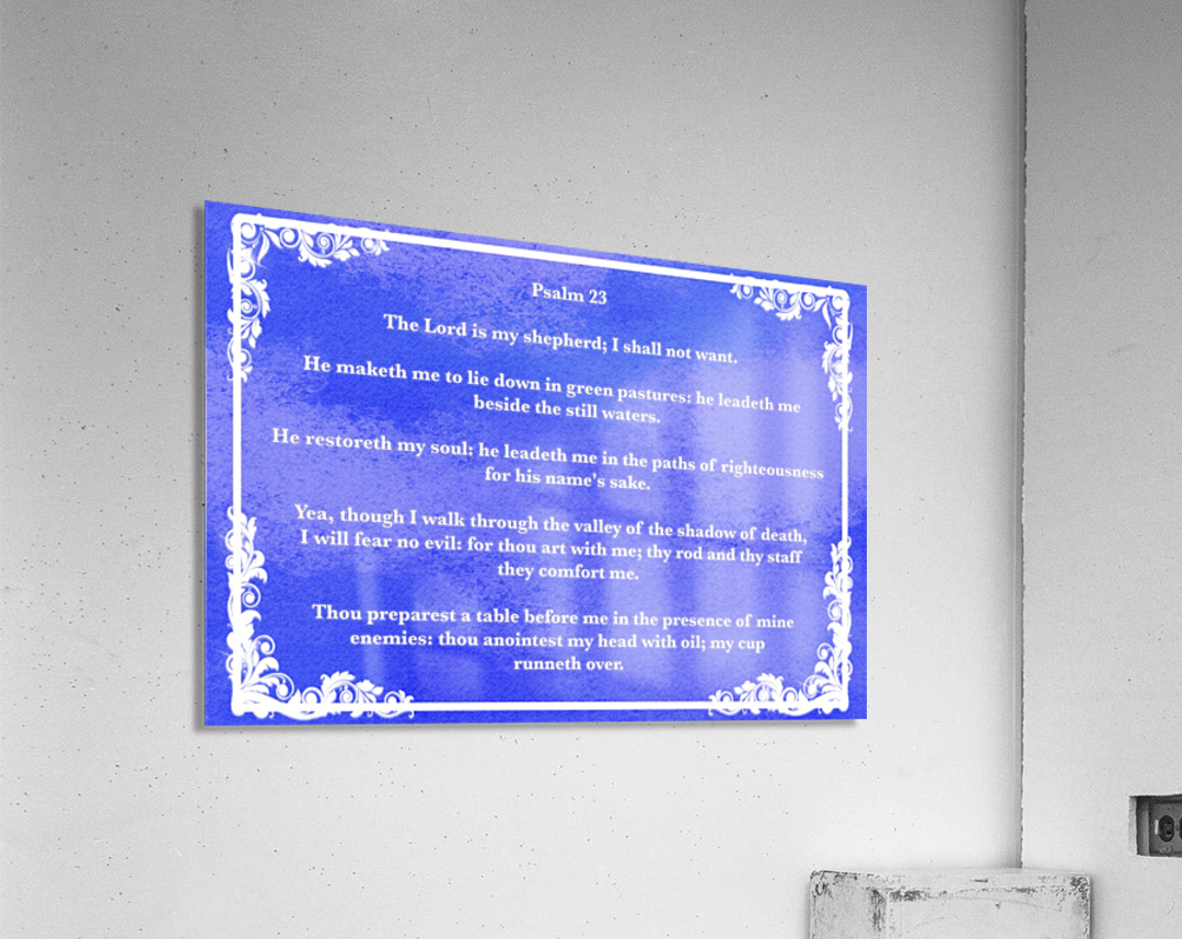 Psalm 23 9BL  Acrylic Print