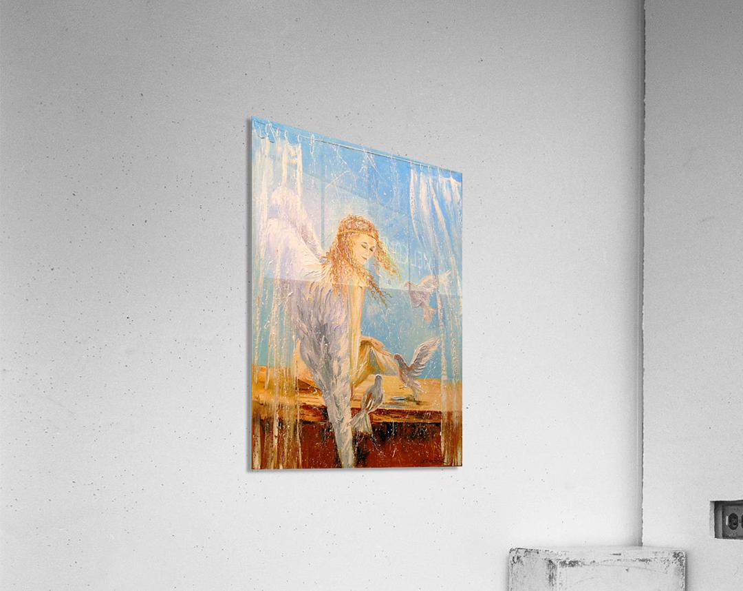 Angel on the window  Acrylic Print