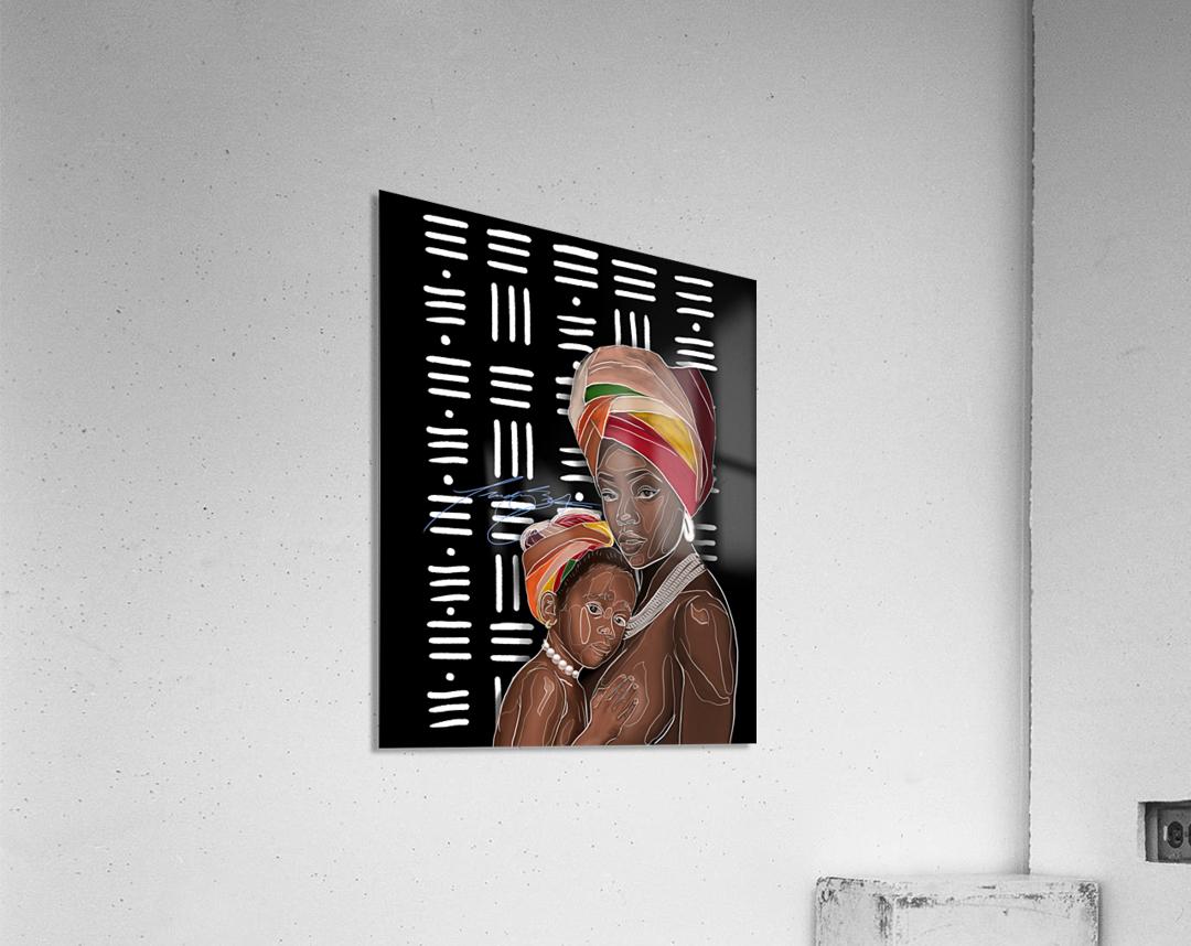 African Motherhood  Acrylic Print
