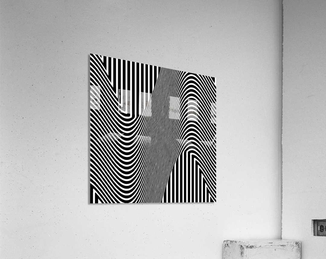 Black and White Abstract Geometric Design 1  Acrylic Print
