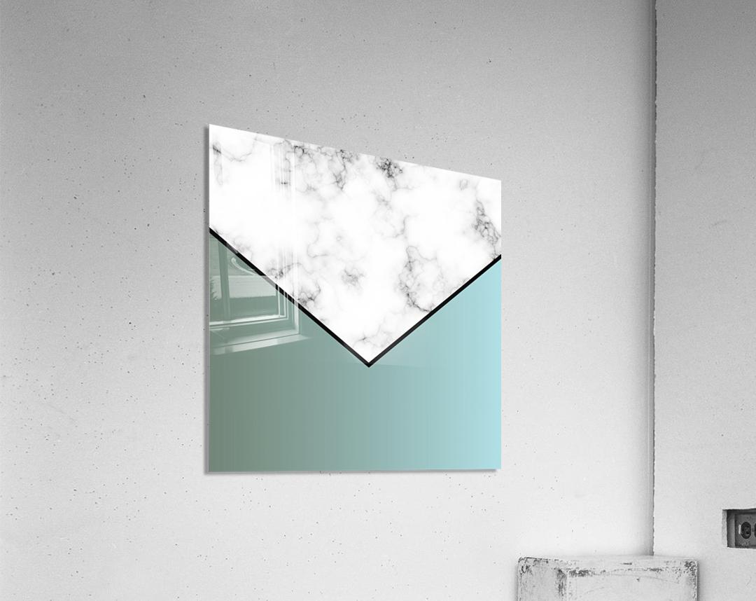 ABSTRACT GRAYISH BLUE MODERN MARBLE  Acrylic Print