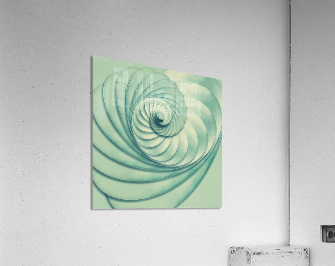 Composition in Celadon  Acrylic Print