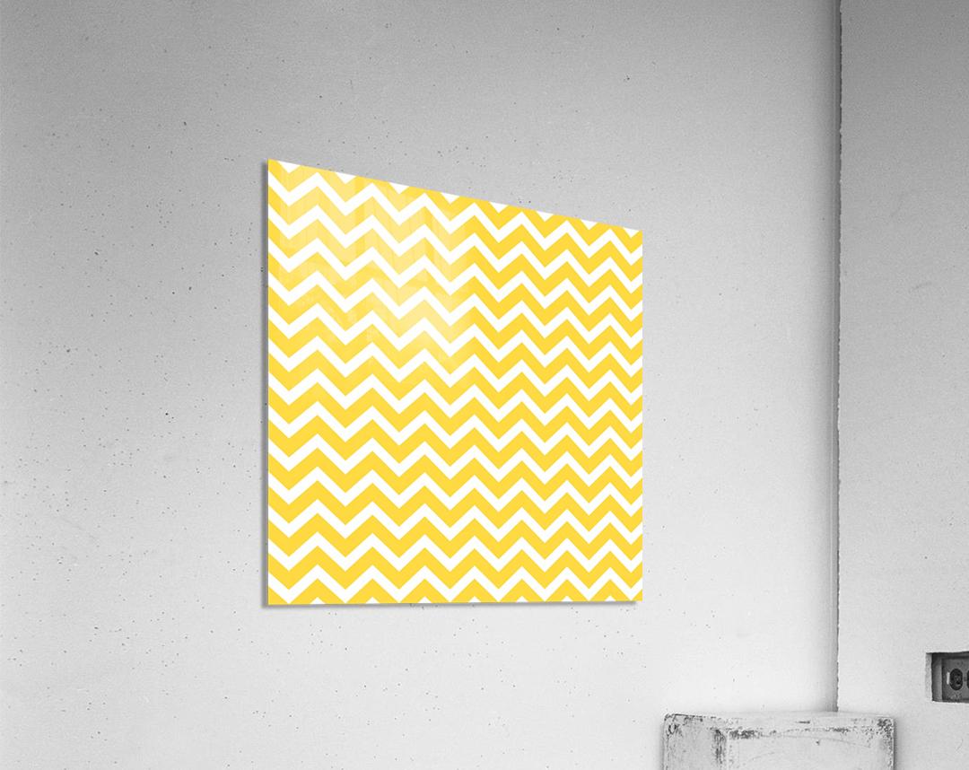 EGG YELLOW CHEVRON  Acrylic Print