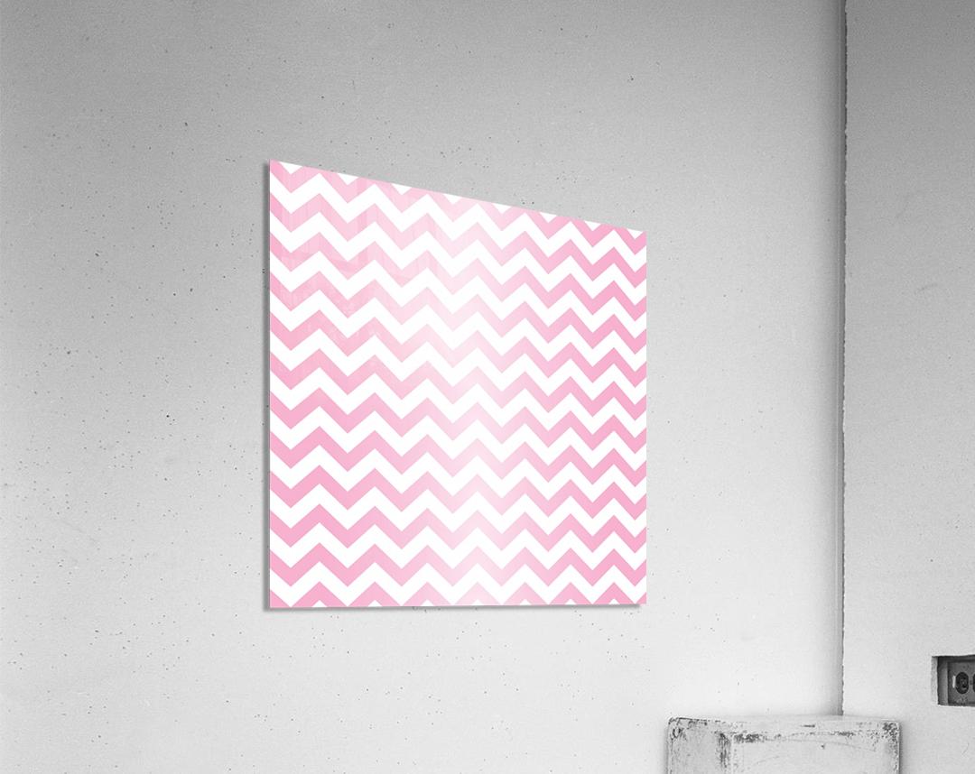 RED RADIAL PASTEL CHEVRON  Acrylic Print