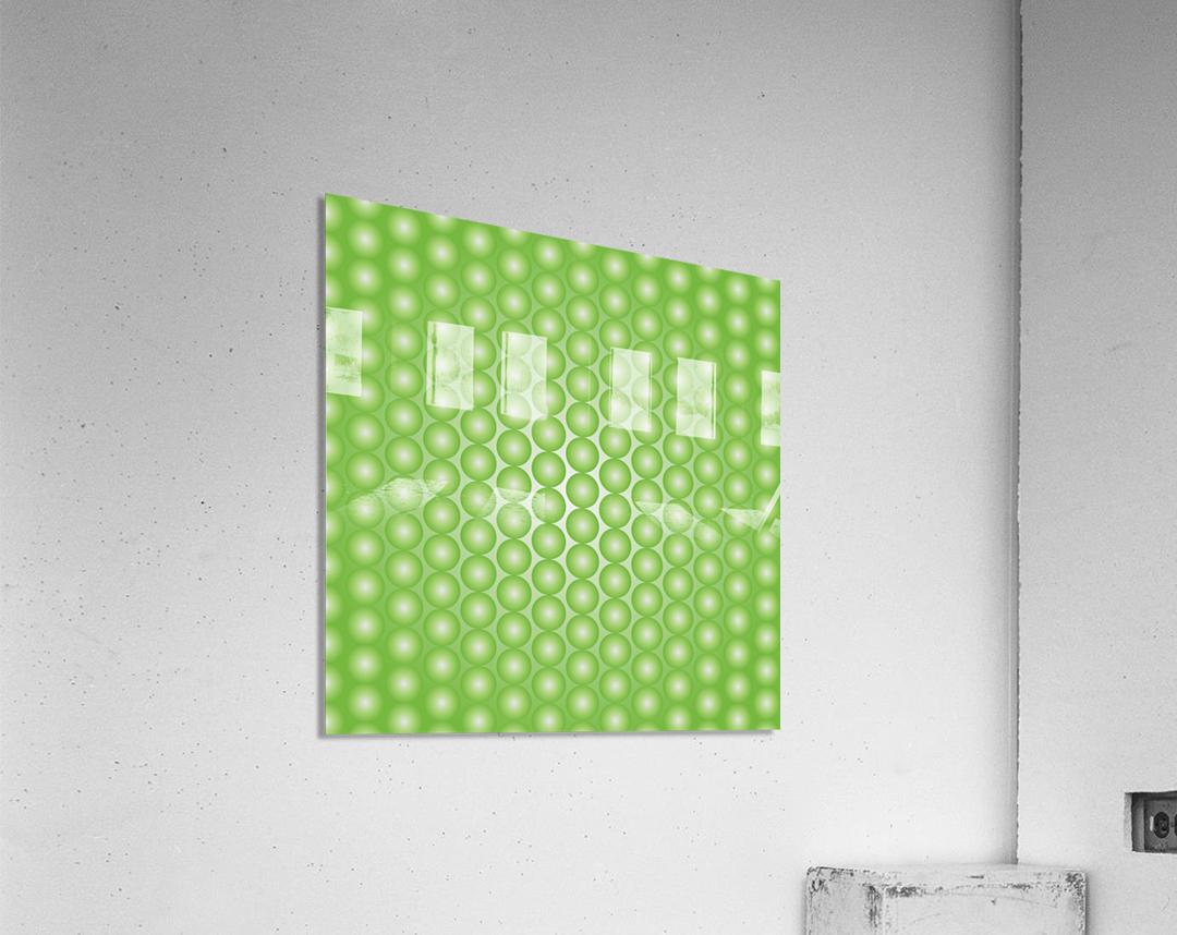 Yellow Green Pearl Pattern  Acrylic Print