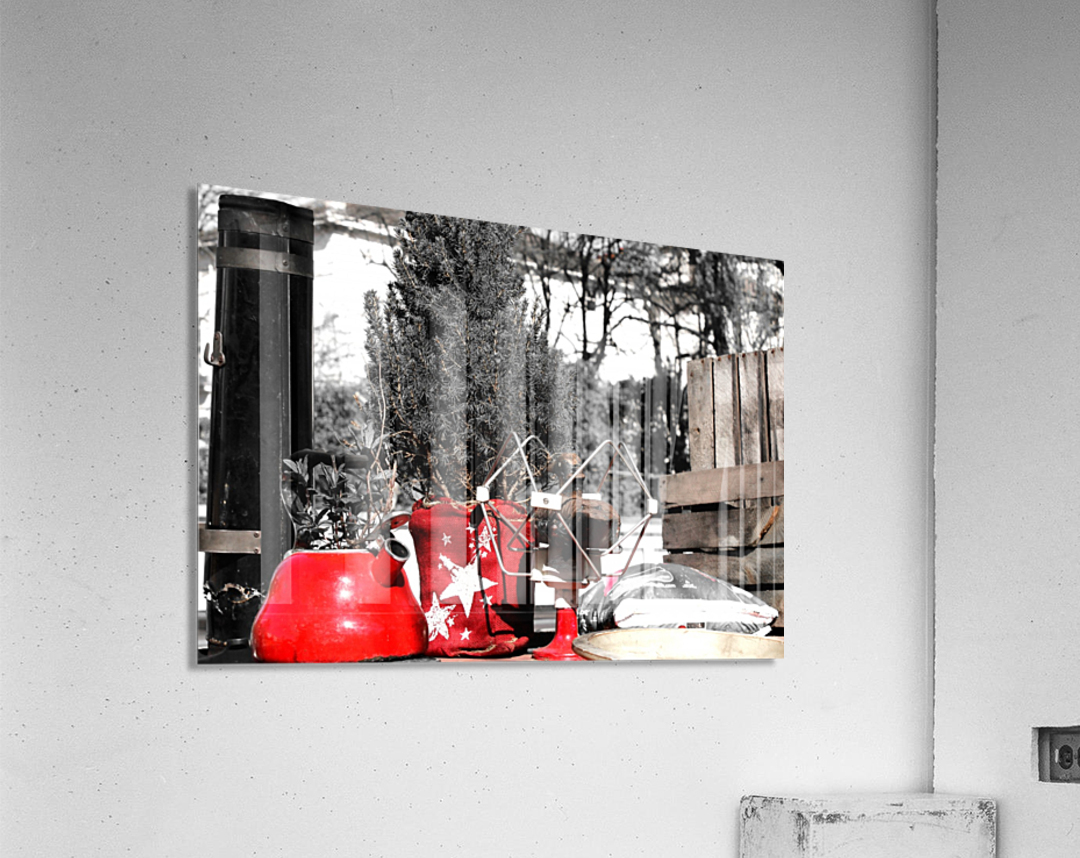 Red Kettle  Acrylic Print