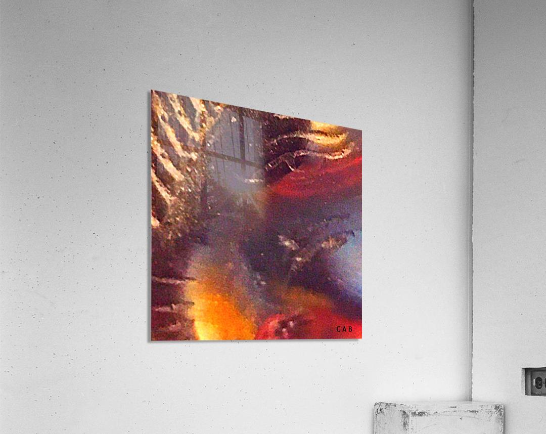 Space diving  Impression acrylique