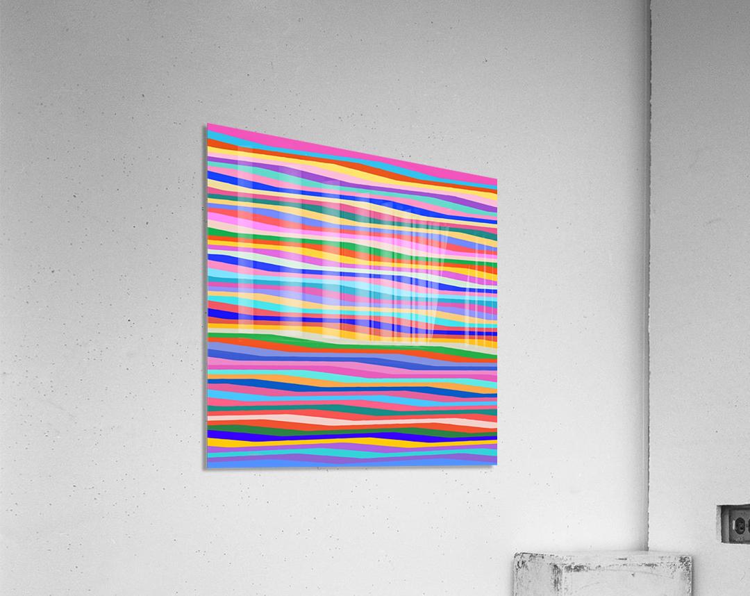 Wavy Stripes Abstract   Acrylic Print