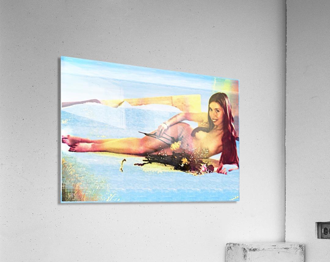 a mermaid in her home  Acrylic Print