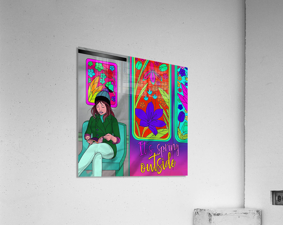 color therapy med  Acrylic Print