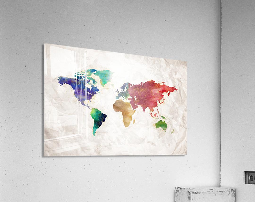Artistic World Map II  Acrylic Print