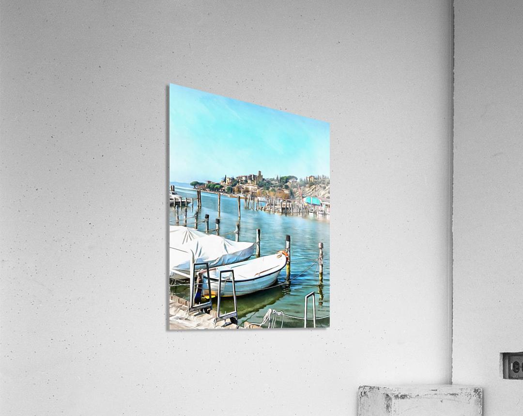 Moored Boats at Passignano  Acrylic Print