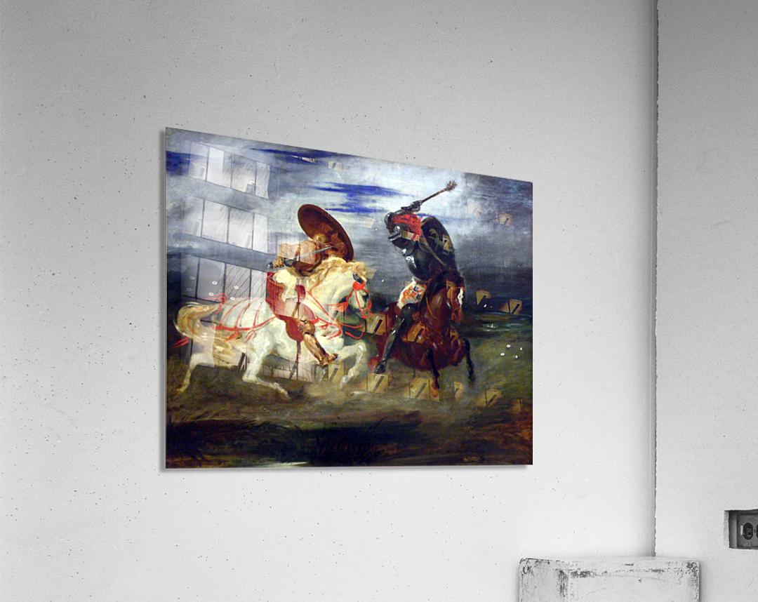Louvre Peinture Francaise Paire De Chevaliers Romantiques Eugene Delacroix
