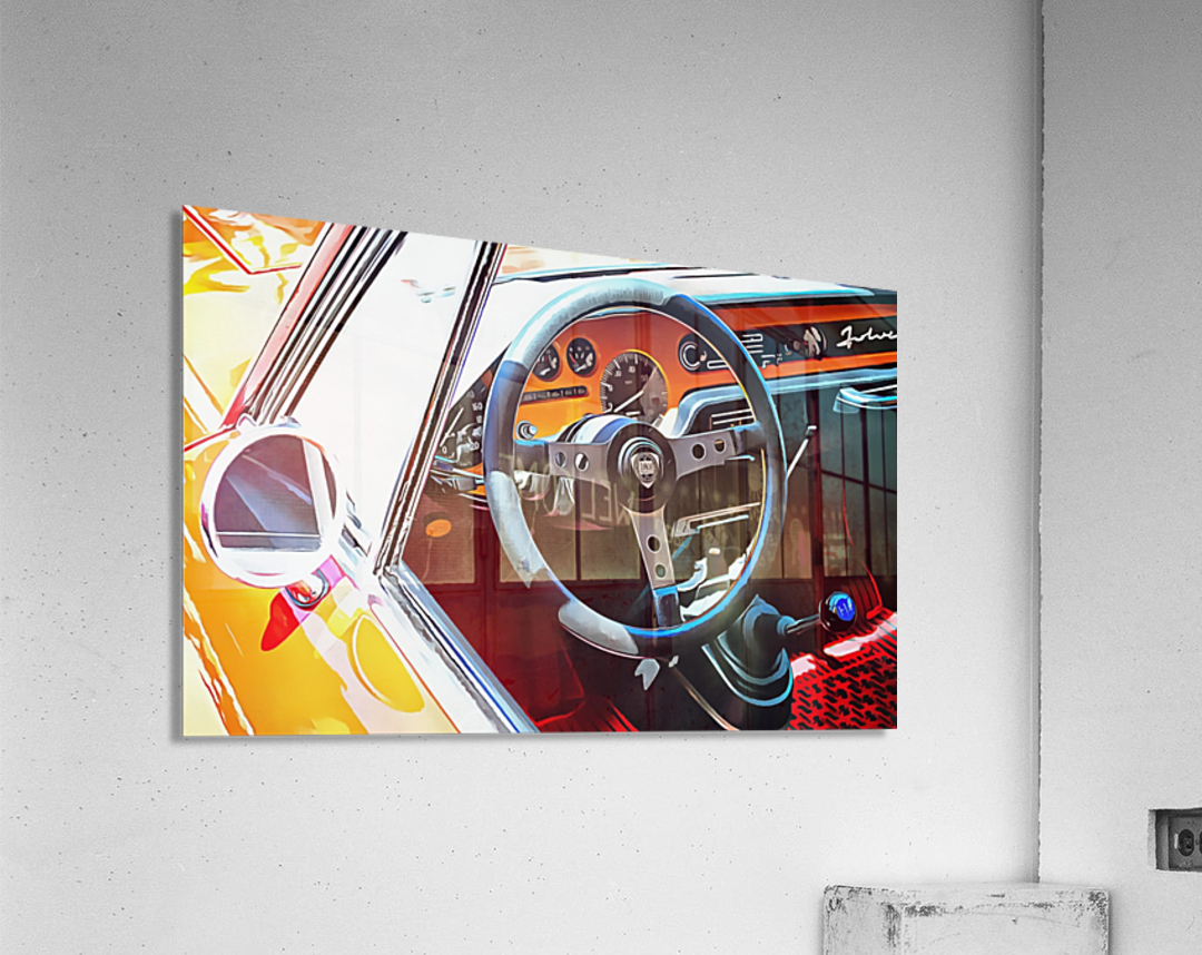 Lancia Fulvia Through The Window  Acrylic Print